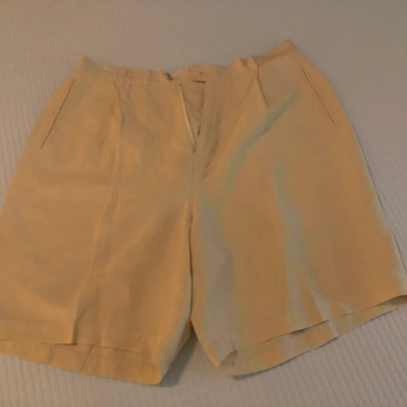 Tommy Bahama Pants - Soft Yellow (Creme) Tommy Bahama Silk/Linen Shorts